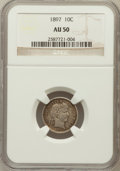 Barber Dimes: , 1897 10C AU50 NGC. NGC Census: (2/380). PCGS Population (3/417).Mintage: 10,869,264. Numismedia Wsl. Price for problem fre...
