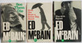 Books:Mystery & Detective Fiction, Ed McBain. Group of Three First Edition, First Printing Books.Simon & Schuster, 1960. Minor rubbing and toning. Very good....(Total: 3 Items)