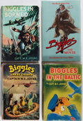 Books:Fiction, W. E. Johns and Others. Group of Four Biggles Books.Various, 1943-1986. Biggles in Borneo comes in a facsim...(Total: 4 Items)