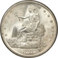 Trade Dollars, 1875-S T$1 MS64 PCGS. CAC....