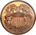 Proof Two Cent Pieces, 1871 2C PR66 Red PCGS. CAC....