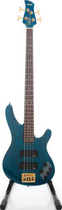 Musical Instruments:Bass Guitars, 1990s Yamaha TRB-4 Trans Teal Electric Bass Guitar, Serial # 8FI1062....