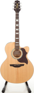 Musical Instruments:Acoustic Guitars, 1981 Takamine EG523SC Blonde Jumbo Acoustic Electric Guitar, Serial#811516660....