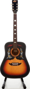 Musical Instruments:Acoustic Guitars, 1960s Checkmate Country Western Copy Sunburst Acoustic Guitar....