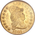 Early Eagles, 1801 $10 MS61 NGC. BD-2, R.2....