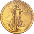 High Relief Double Eagles, 1907 $20 High Relief, Flat Rim MS63 PCGS....