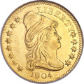Early Quarter Eagles, 1804 $2 1/2 14 Star Reverse AU58 NGC. Breen-6119, BD-2, R.4....