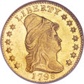Early Quarter Eagles, 1798 $2 1/2 MS62 NGC. Wide Date, Five Berries, BD-2, R.5. ...