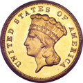 Three Dollar Gold Pieces, 1881 $3 MS64 PCGS....