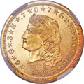 Proof Four Dollar Gold Pieces, 1880 $4 Flowing Hair, Judd-1657, Pollock-1857, R.6, PR66 NGC....