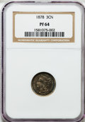 Proof Three Cent Nickels: , 1878 3CN PR64 NGC. NGC Census: (133/325). PCGS Population(243/329). Mintage: 2,350. Numismedia Wsl. Price for problemfree...
