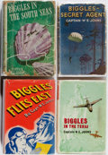 Books:Fiction, W. E. Johns. Group of Four First Edition Biggles Books.Various, 1940-1966. Scattered foxing and wear. Biggles...(Total: 4 Items)