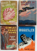 Books:Fiction, W. E. Johns. Group of Four Early Edition Mostly BigglesBooks. Various, 1939-1946. Toning and scattered foxing. ... (Total:4 Items)