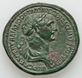 Ancients:Roman Imperial, Ancients: Trajan (AD 98-117). Orichalcum sestertius (36mm, 29.65gm, 6h). ...