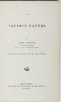 Books:Americana & American History, George H. Derby. The Squibob Papers. Carleton, 1865. Firstedition, first printing. Some rubbing and bumping to clot...