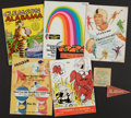 Football Collectibles:Publications, 1950-69 Alabama and College Football Programs One Signed by Ed Salem. ...