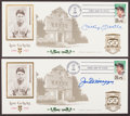 Baseball Collectibles:Others, Joe DiMaggio and Mickey Mantle Signed First Day Covers Lot of 2....