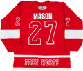 Hockey Collectibles:Uniforms, 2005-06 Wes Mason Fort Worth Game Worn Throwback Jersey....