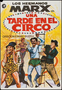"At the Circus (MGM, R-1970s). Spanish One Sheet (27"" X 39""). Comedy"