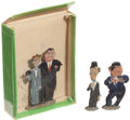 Memorabilia:Movie-Related, Laurel and Hardy Die-Cast Miniature Figure Group (c. 1930s)....(Total: 4 Items)