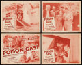 "Movie Posters:Serial, Brick Bradford Amazing Soldier of Fortune (Columbia, 1947). LobbyCard Set of 4 (11"" X 14"") Chapter 11 -- ""Poison Gas."" Seri...(Total: 4 Items)"