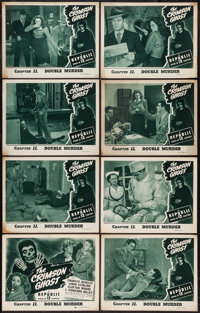 "The Crimson Ghost (Republic, 1946). Lobby Card Set of 8 (11"" X 14"") Chapter 11 --""Double Murder."" Se..."