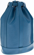 Luxury Accessories:Bags, Louis Vuitton Blue Epi Leather Randonnee Convertible Shoulder Bagor Backpack. ...