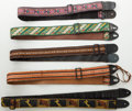 Musical Instruments:Miscellaneous, 1970s Vintage Guitar Strap Lot of 5. . ...