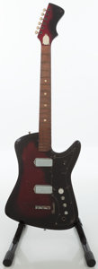 Musical Instruments:Electric Guitars, 1965 Airline Big Horn Red Burst Solid Body Electric Guitar....