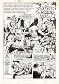 "Original Comic Art:Complete Story, Dick Ayers with Joe Simon and Paul Reinman Adventures of the Fly #2 Complete 6-Page Story ""Tim O'Casey's Wrecking ..."