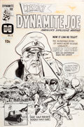 Original Comic Art:Covers, Bill Draut Warfront #38 Dynamite Joe Cover Original Art(Harvey, 1966)....
