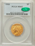 Indian Half Eagles: , 1910 $5 MS62 PCGS. CAC. PCGS Population (1408/803). NGC Census:(2013/1244). Mintage: 604,250. Numismedia Wsl. Price for pr...