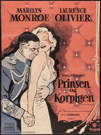 """The Prince and the Showgirl (Warner Brothers, 1958). Danish One Sheet (24"""" X 32.75""""). Romance"""