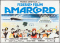 "Movie Posters:Comedy, Amarcord (Dear International, 1974). Italian 2 - Foglio (39"" X 55""). Comedy.. ..."