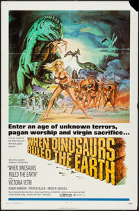 """When Dinosaurs Ruled the Earth (Warner Brothers, 1970). One Sheet (27"""" X 41""""). Fantasy"""
