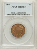 Proof Two Cent Pieces: , 1870 2C PR64 Brown PCGS. PCGS Population (21/4). NGC Census:(18/18). Mintage: 1,000. Numismedia Wsl. Price for problem fre...