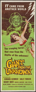 """Movie Posters:Horror, Giant from the Unknown (Astor Pictures, 1958). Insert (14"""" X 36"""").Horror.. ..."""