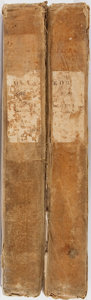 Books:Religion & Theology, George Sale [translator]. The Koran. Vol. I & II. Thomas Wardle, 1833. Publisher's cloth with wear and staining.... (Total: 2 Items)