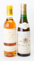 White Bordeaux, Chateau d'Yquem . 1988 Sauternes Half-Bottle (1). Vouvray .1989 Cuvee Constance, Huet Half-Bottle (1)... (Total: 2Halves. )