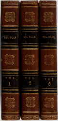 Books:Literature Pre-1900, Alain-Rene Lesage. The Adventures of Gil Blas of Santillane. Vol. I-III. New York: Durell, 1820. Contemporary ca... (Total: 3 Items)