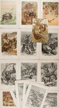 Books:Prints & Leaves, Group of Sixteen 19th Century Prints of Animals, Some Color, fromLydekker's New Natural History. Most approx. 6...