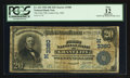 National Bank Notes:Missouri, Grant City, MO - $20 1902 Date Back Fr. 643 The First NB Ch. #(M)3380. ...