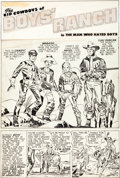 Original Comic Art:Panel Pages, Joe Simon and Jack Kirby Boys' Ranch #1 Page 3 Original Art(Harvey, 1950)....