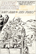 Original Comic Art:Splash Pages, Joe Simon and Jack Kirby Boys' Ranch #5 Splash Page 1Original Art (Harvey, 1951)....
