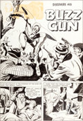 "Original Comic Art:Panel Pages, Joe Simon and Jack Kirby Adventures of the Fly #1""The Fly Discovers His Buzz Gun"" Title Page 1 Origin..."