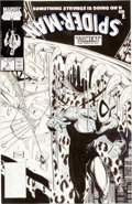 Original Comic Art:Covers, Todd McFarlane Spider-Man #3 Cover Original Art (Marvel,1990)....