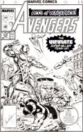 Original Comic Art:Covers, Paul Ryan and Tom Palmer Avengers #313 Cover Original Art (Marvel, 1990)....