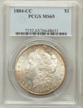 Morgan Dollars: , 1884-CC $1 MS65 PCGS. PCGS Population (6995/1479). NGC Census:(4016/1023). Mintage: 1,136,000. Numismedia Wsl. Price for p...