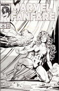 Original Comic Art:Covers, Kerry Gammill and Jose Marzan Jr. Marvel Fanfare #48She-Hulk Cover Original Art (Marvel, 1989)....