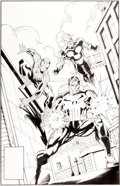 Original Comic Art:Covers, Mark Bagley and P. Craig Russell The Amazing Spider-Man #357Cover Original Art (Marvel, 1992)....